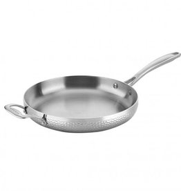 """Cuisinart Hammered Collection Tri-Ply 12"""" Skillet w/Helper Handle"""