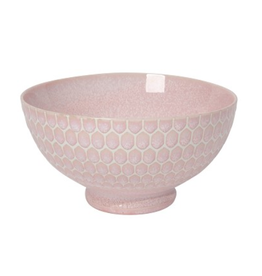 """Now Designs Bowl 8"""", Honeycomb Pink"""