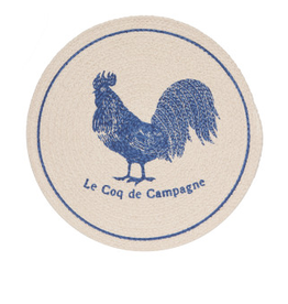 Now Designs Braided Placemat, Rooster Francaise
