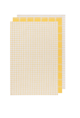 Now Designs Dishtowel S/3, Tic Tac Toe Lemon