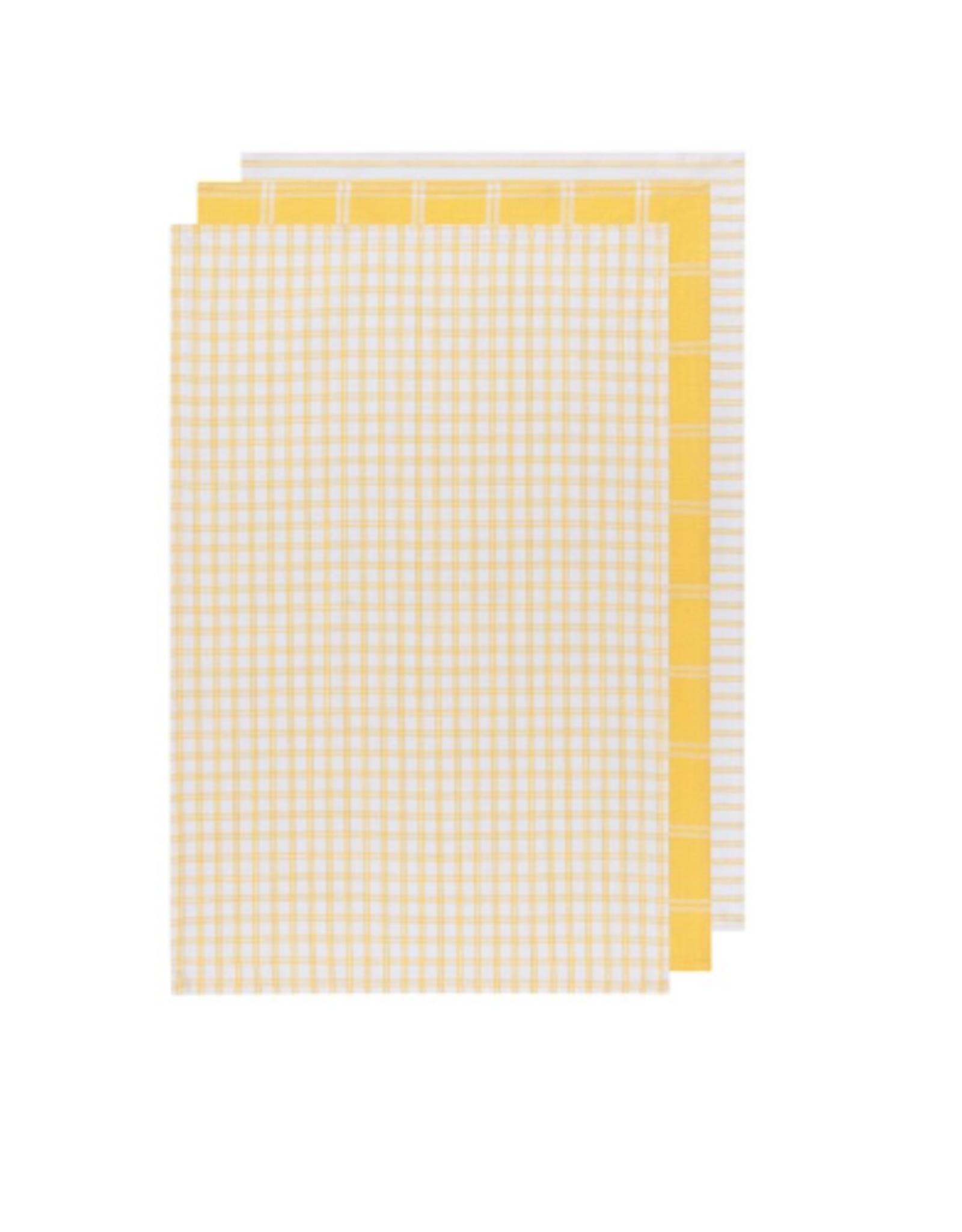 Now Designs Dishtowel S/3, Tic Tac Toe Lemon