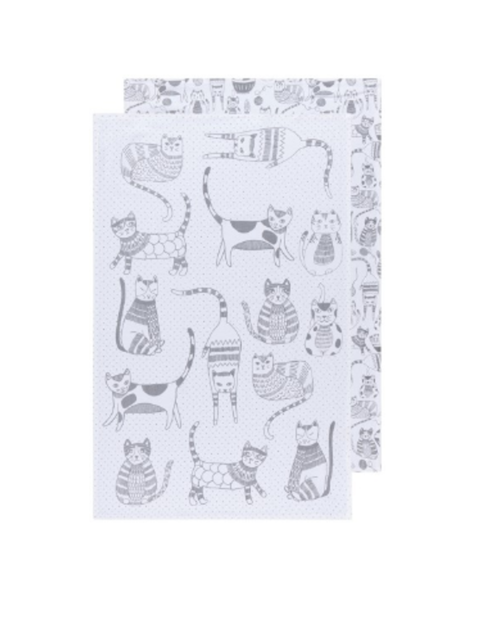Now Designs Floursack Dishtowel S/2, London Gray