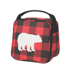 Now Designs Lunch Bag, Buffalo Check Bear