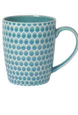 Now Designs Mug, Honeycomb Teal