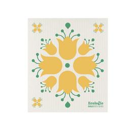 Now Designs Swedish Dishcloth, Yellow Tulip
