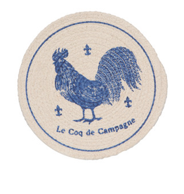 Now Designs Trivet Braided, Rooster Francaise