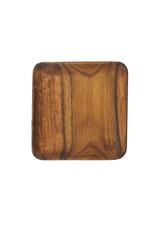 "Pacific Merchants Acaciaware Square Plate, 7"" x 7"""