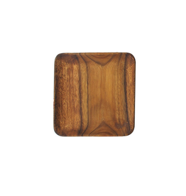 "Pacific Merchants Acaciaware Square Plate, 7"" x 7"""