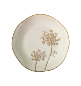 Tag Appetizer Plate, Cream Wildflower