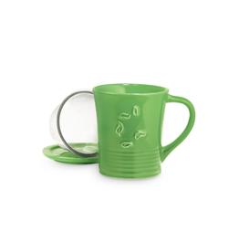 The Republic of Tea Dancing Leaves, Tea Mug, Green