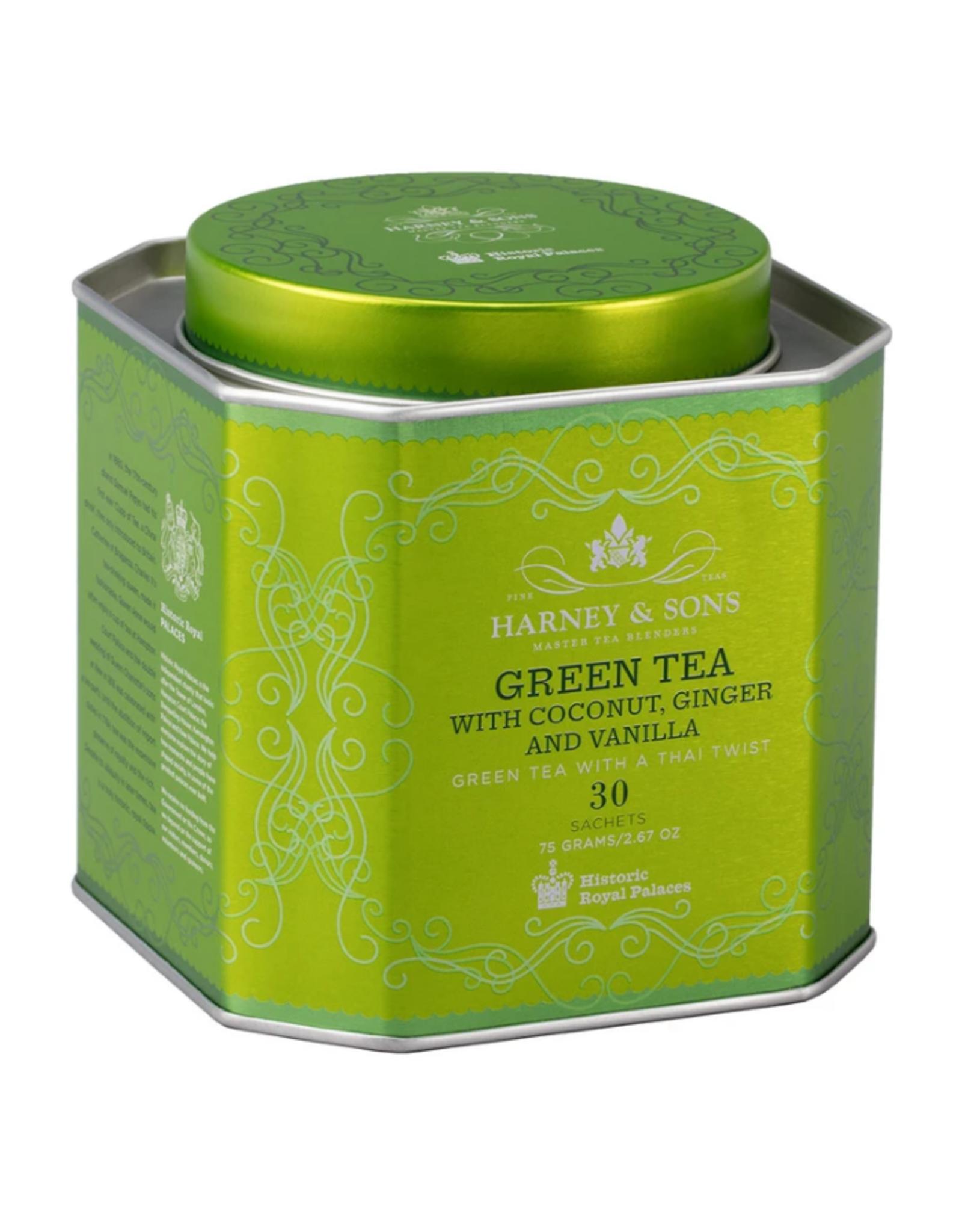 Harney & Sons Green Tea w/ Coconut - HRP Tin, 30 sachets