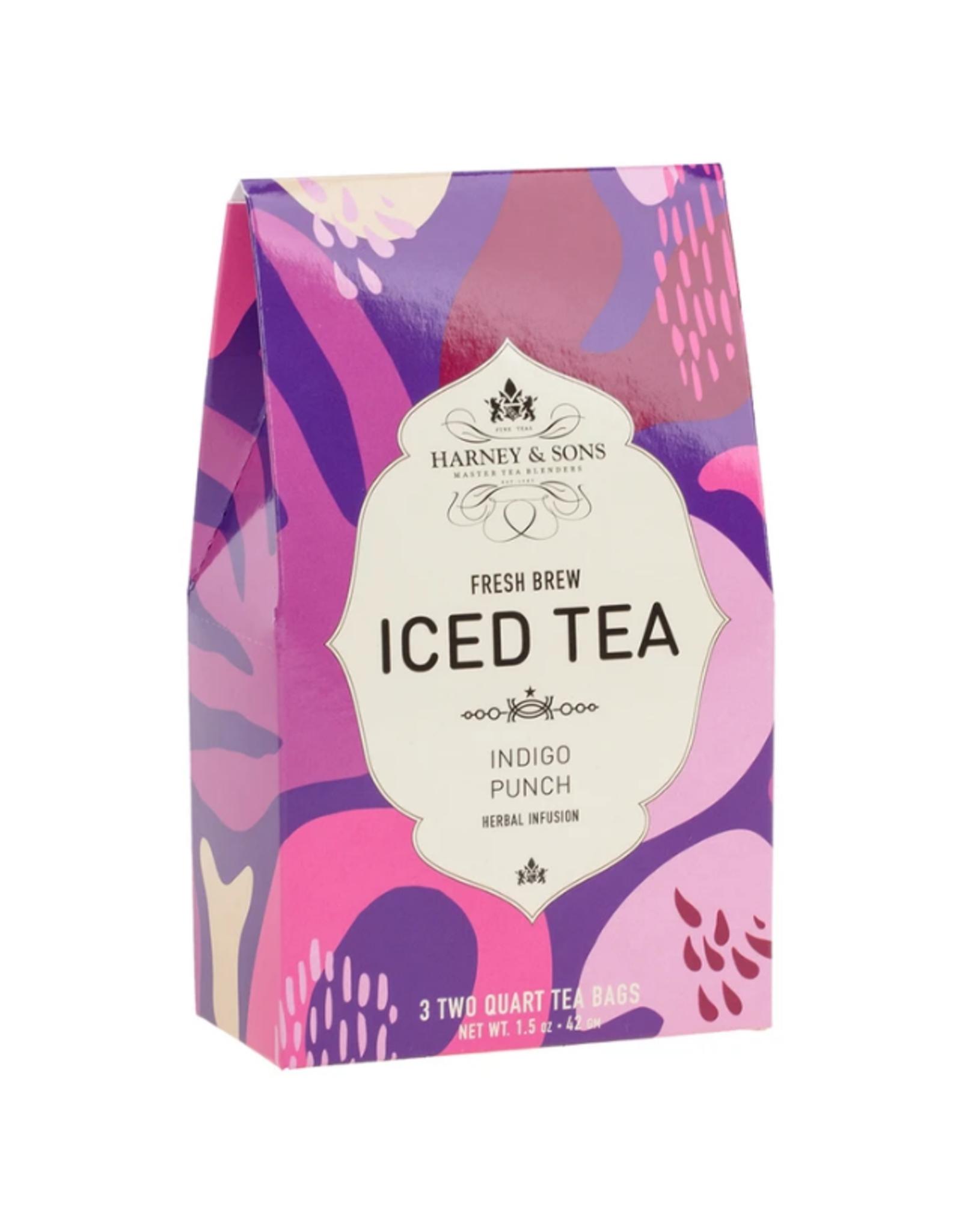 Harney & Sons Iced Tea Indigo Punch - 3 2qt Bags