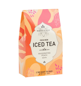 Harney & Sons Iced Tea Invigorating Peach - 3 2Qt Bags