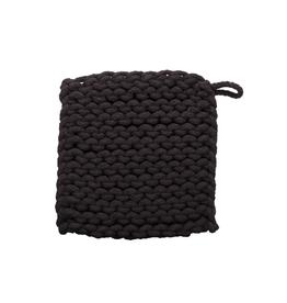 Tag Crochet Trivet/Potholder, Black