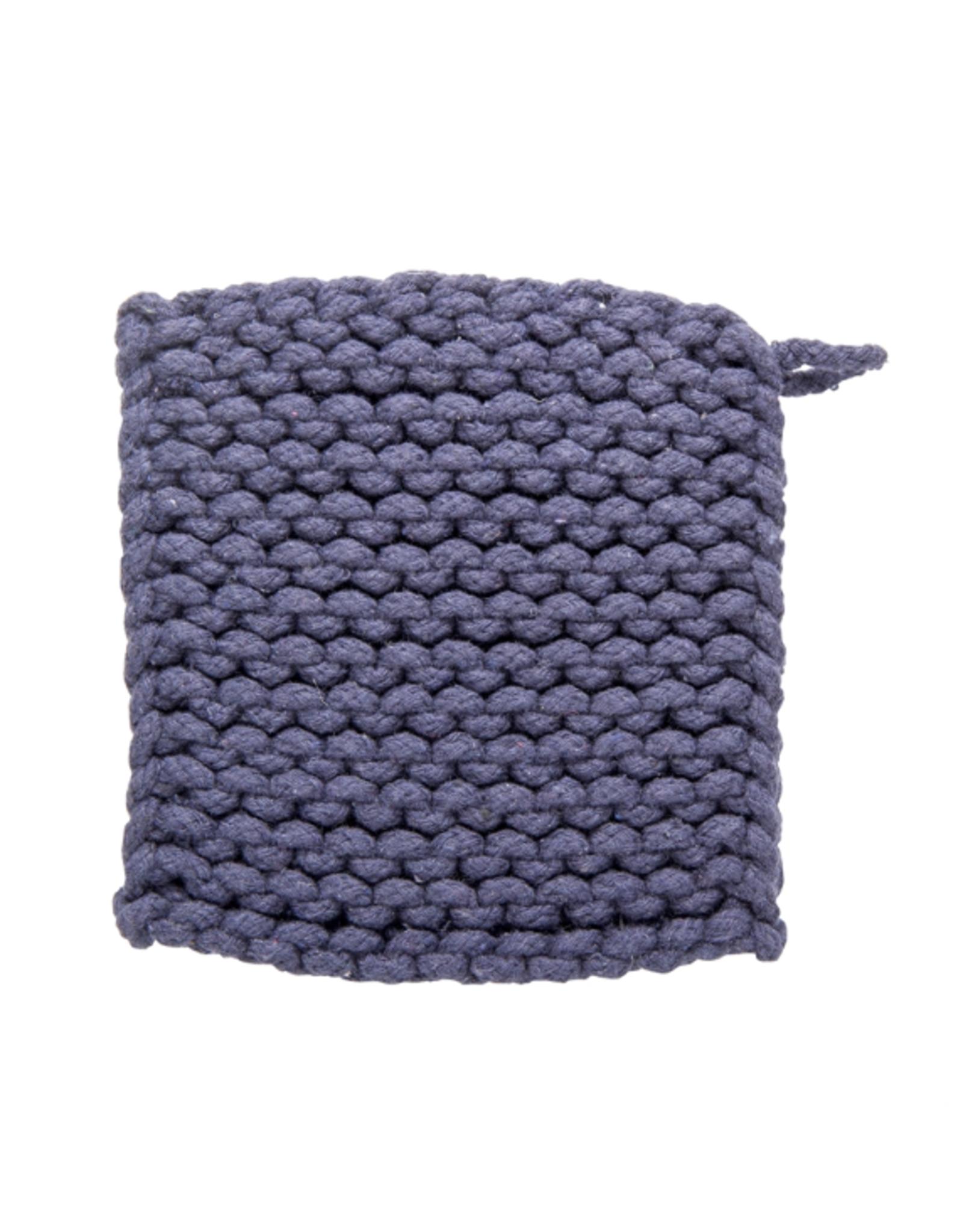 Tag Crochet Trivet/Potholder - Midnight Blue