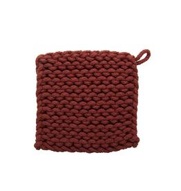 Tag Crochet Trivet/Potholder, Chestnut