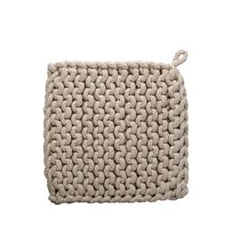 Tag Crochet Trivet/Potholder, Natural