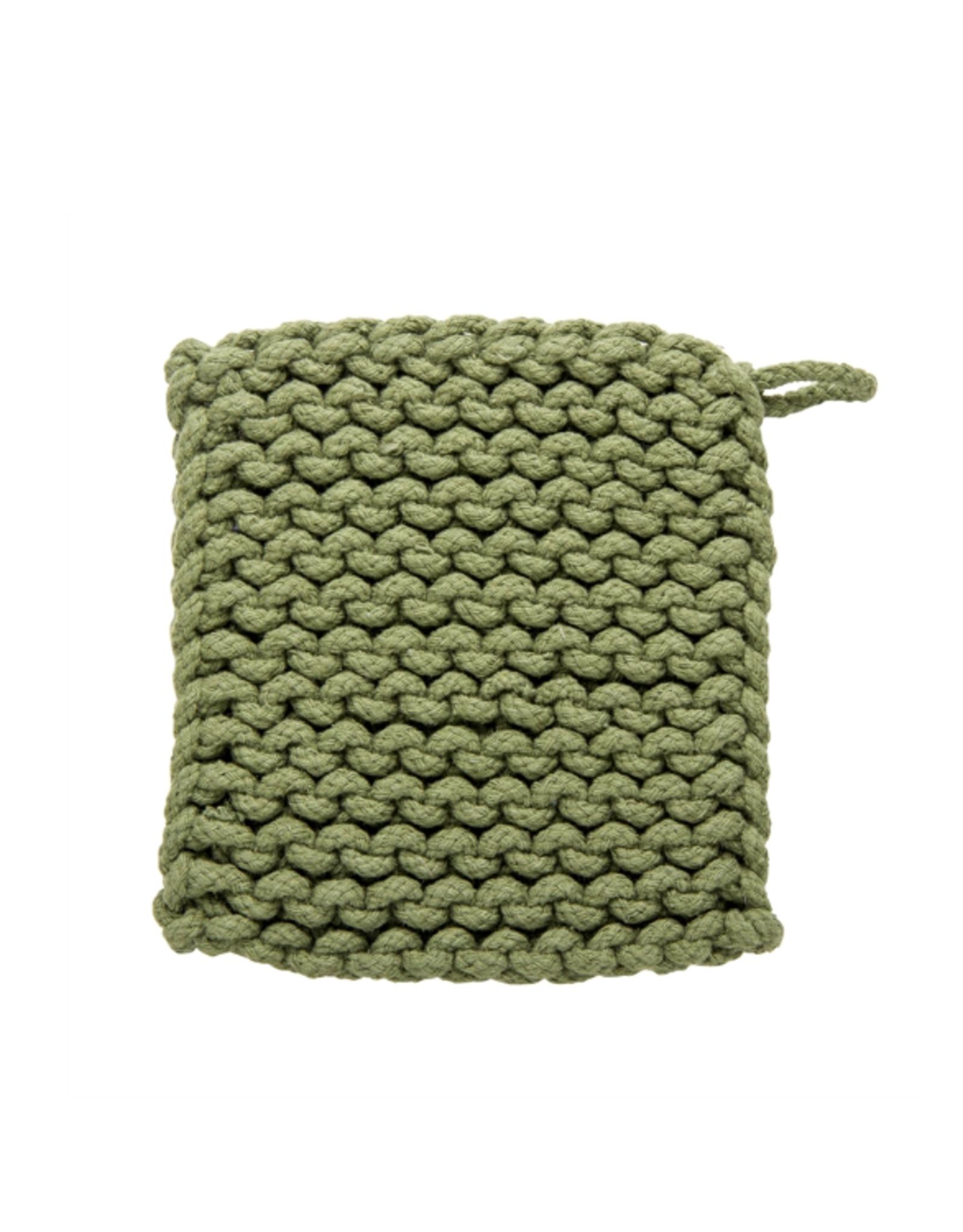 Tag Crochet Trivet/Potholder, Olive
