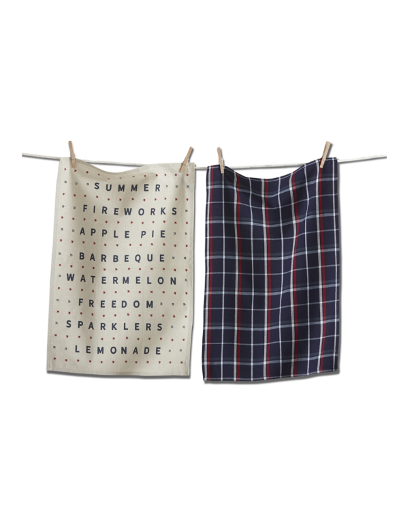 Tag Dishtowel S/2 - Americana Summer