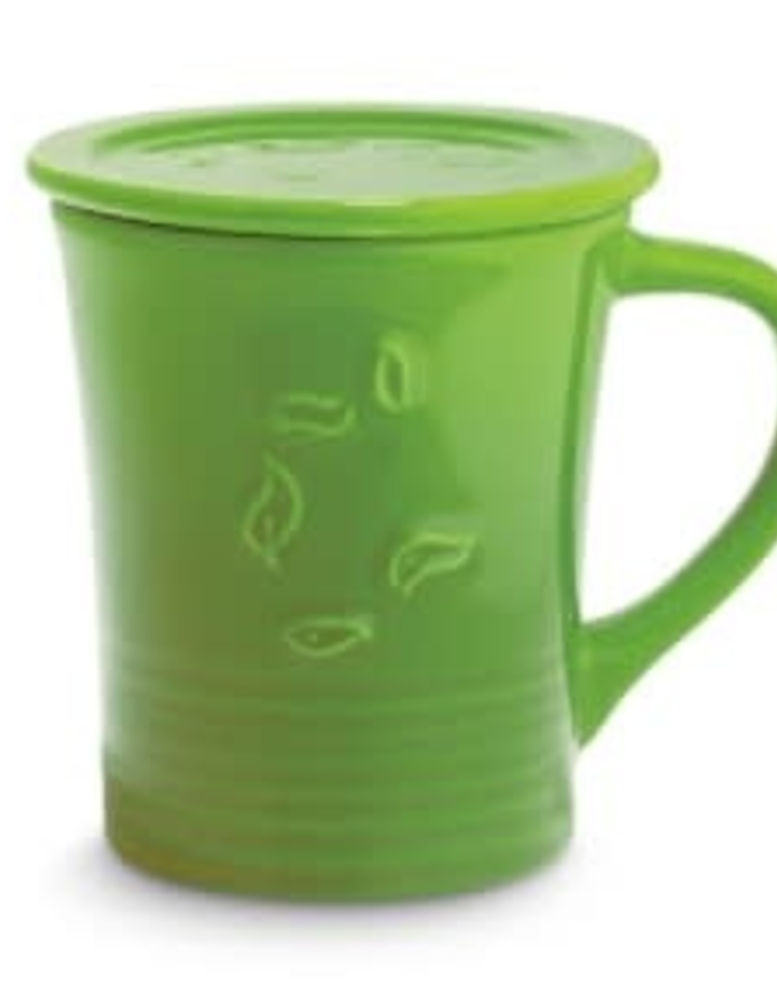 The Republic of Tea Dancing Leaves, Tea Mug, Green
