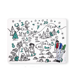 Modern Twist Numbers Placemat and Marker Set