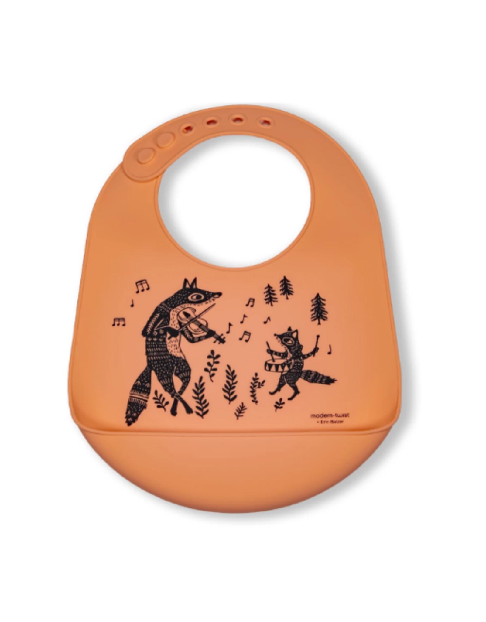 Modern Twist Bucket Bibs, Fox Family