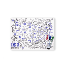 Modern Twist US Placemat and Marker Set