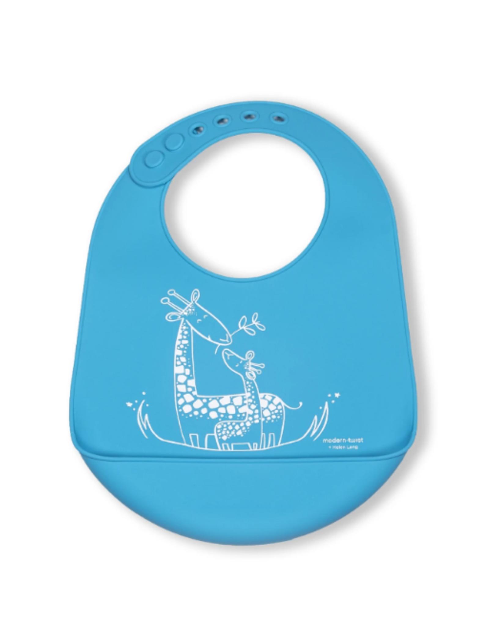 Modern Twist Bucket Bibs, Giraffe Giggles