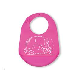 Modern Twist Bucket Bibs, elephant hugs pink