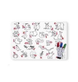 Modern Twist Alphabet Animals Placemat and Marker Set