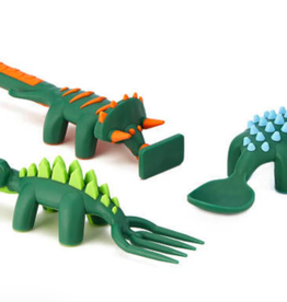 Constructive Eating Dino Utensils, Set/3,