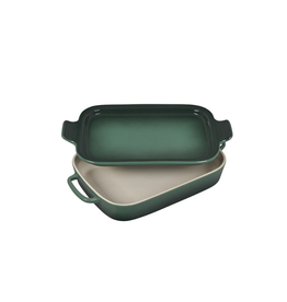 Le Creuset Rectangular Dish w/ Platter Lid, Artichaut (14.75x9)