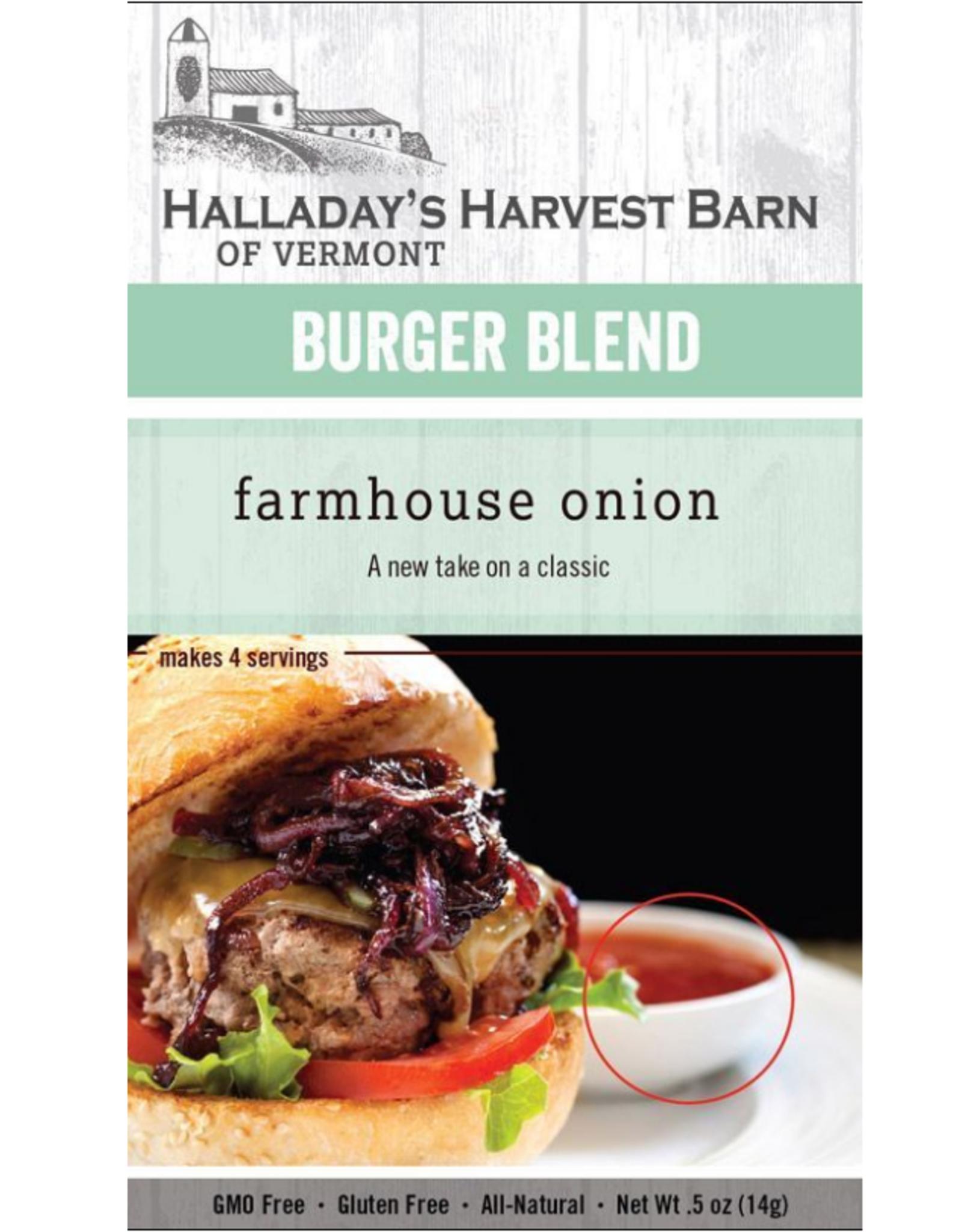 Halladay's Harvest Barn Burger Seasoning, Farmhouse Onion