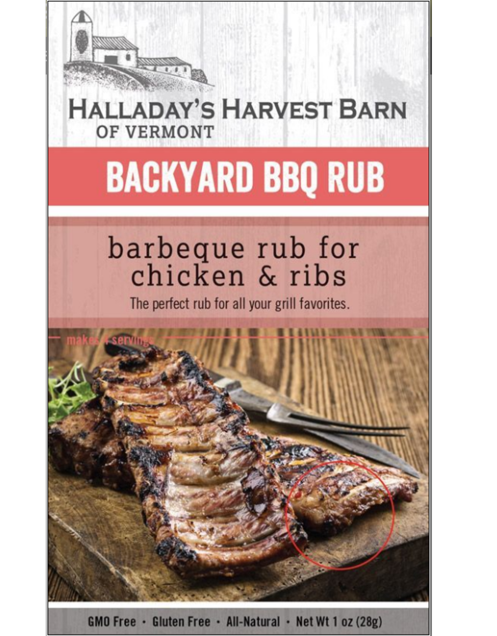 Halladay's Harvest Barn BBQ Rub, Chicken & Ribs