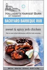 Halladay's Harvest Barn BBQ Rub, Sweet & Spicy Jerk Chicken