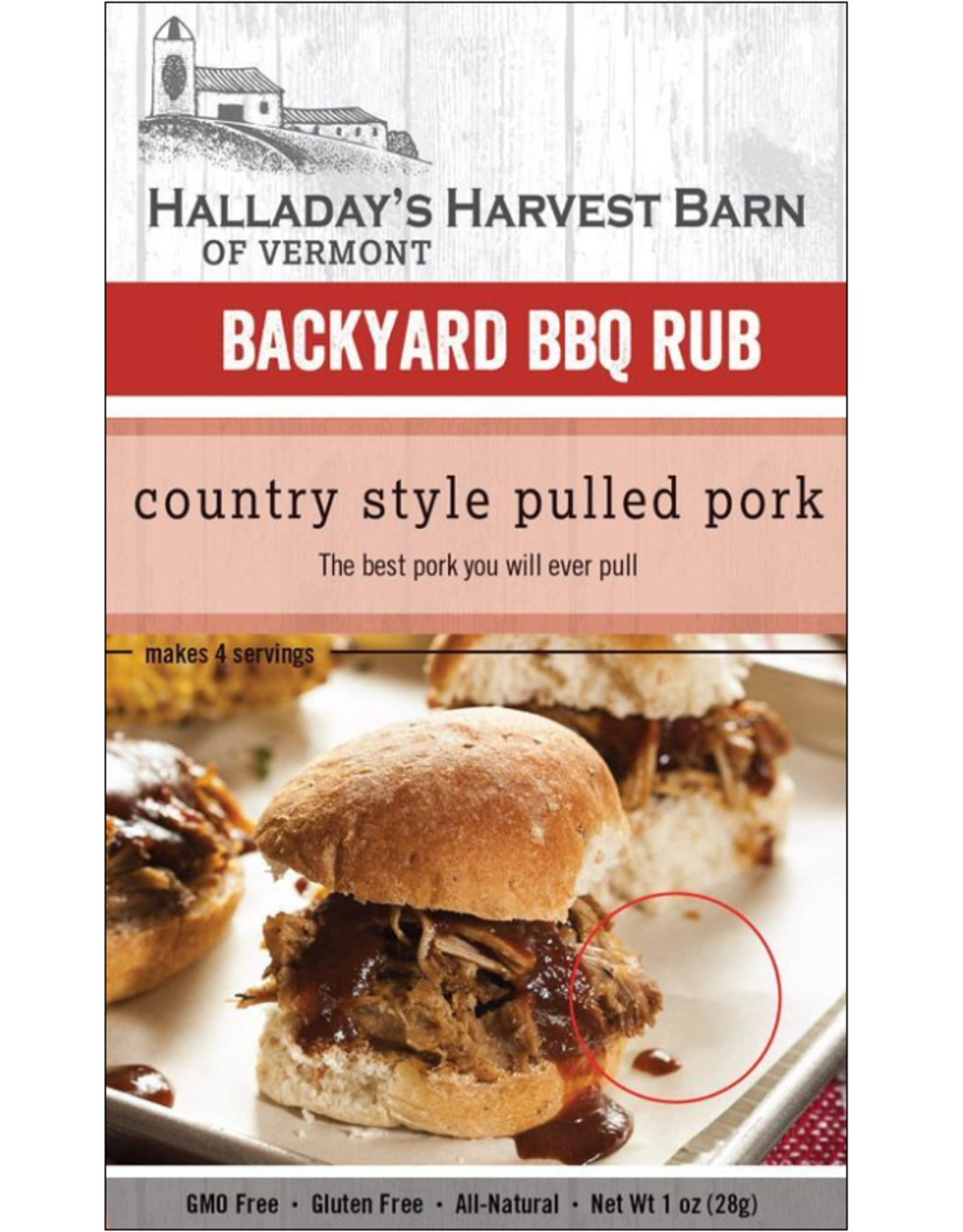Halladay's Harvest Barn BBQ Rub, Country Style Pulled Pork