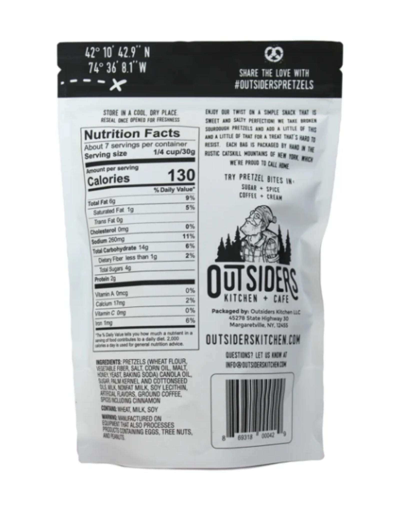 Outsiders Kitchen Coffee + Cream Pretzel Bites 7oz