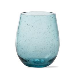 Tag Stemless Wine Bubble Glass, Aqua