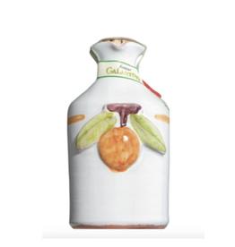 Zia Pia Imports + Italian Kitchen Hand Painted Ceramic, Orange EVOO