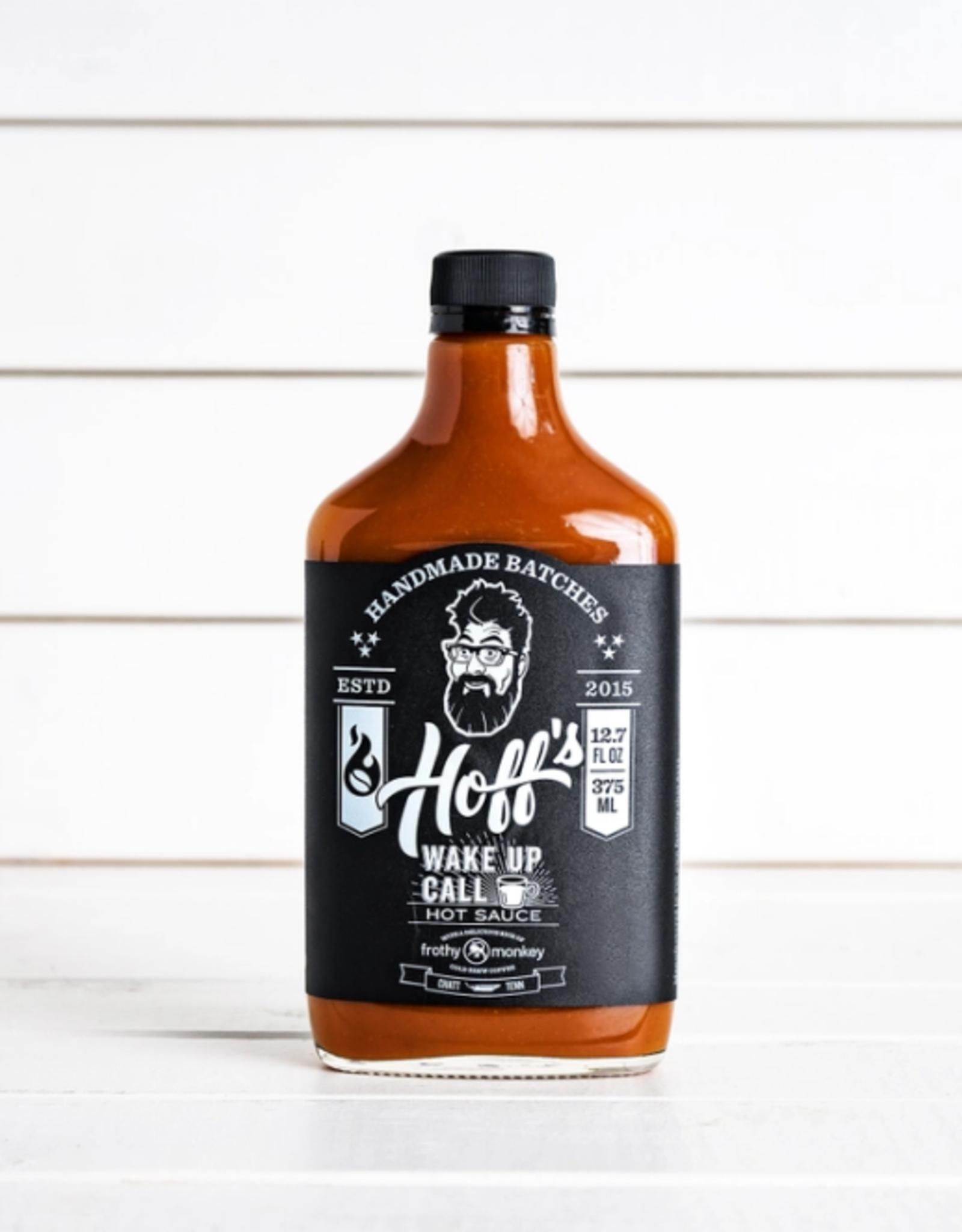 Hoff & Pepper Wake Up Call, Hoff's Sweet/Spicy Hot Sauce w/ Coffee 12oz