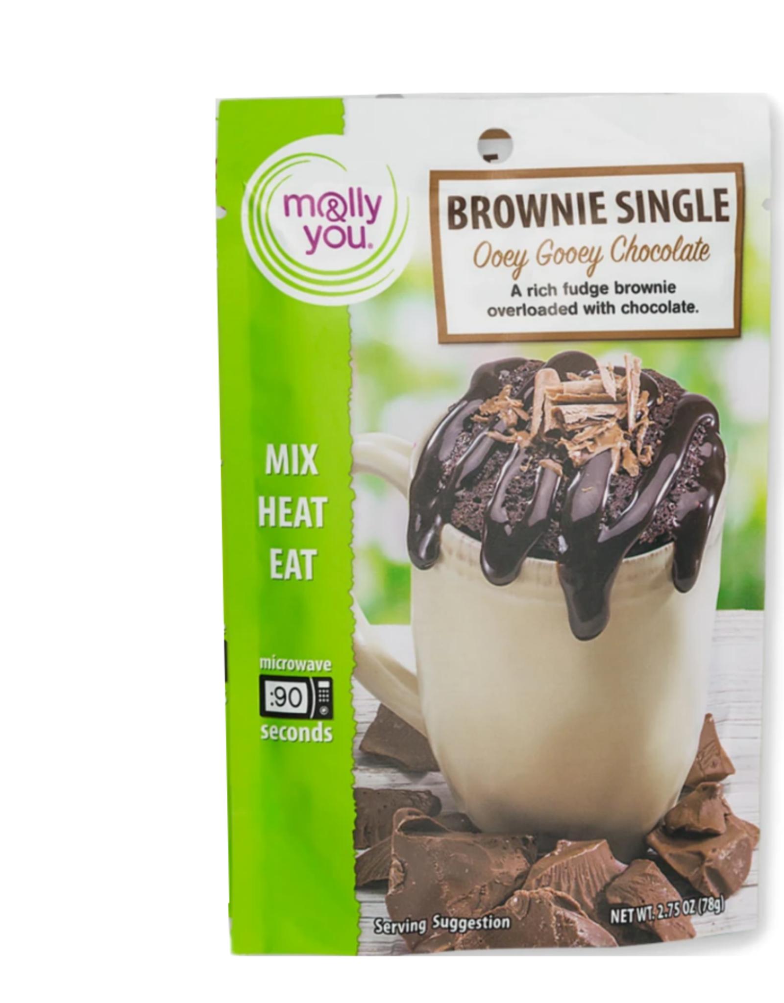 molly&you Gooey Choc Brownie Microwave Single