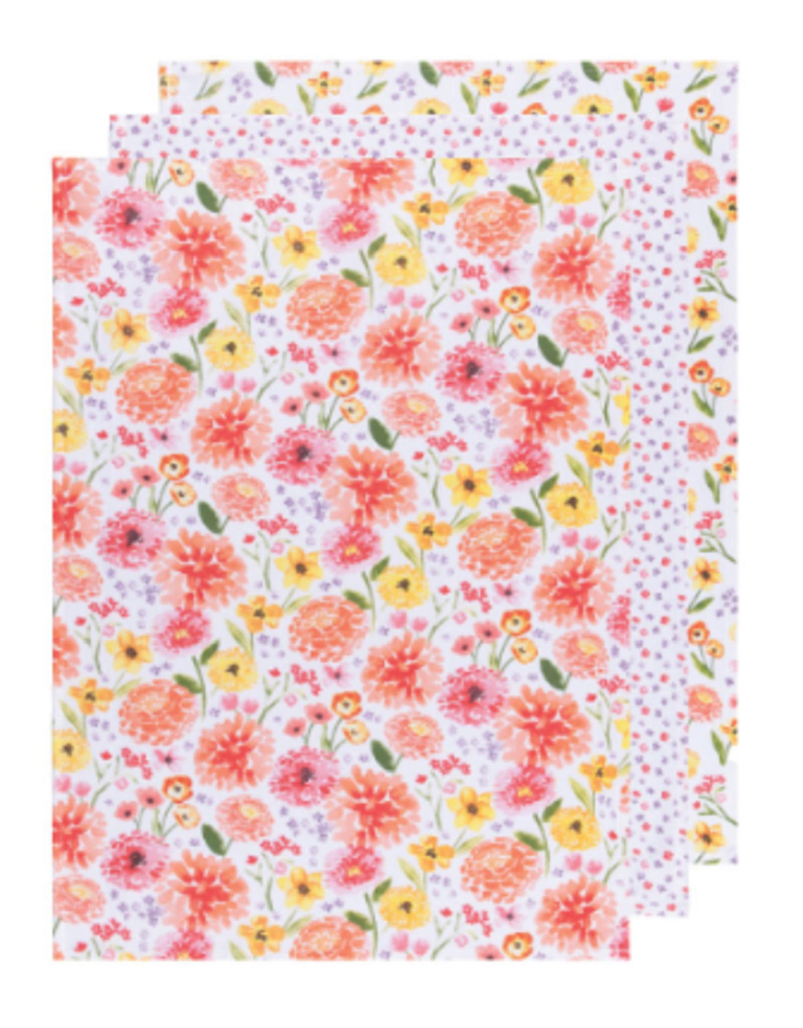 Now Designs Dishtowel S/3, Bakers Flour Cottage Floral