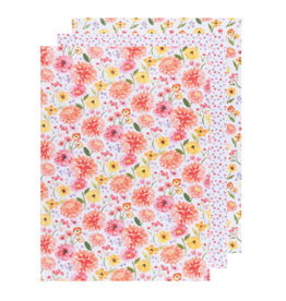 Now Designs Dishtowel S/3, Bakers Flour Cottage Floral