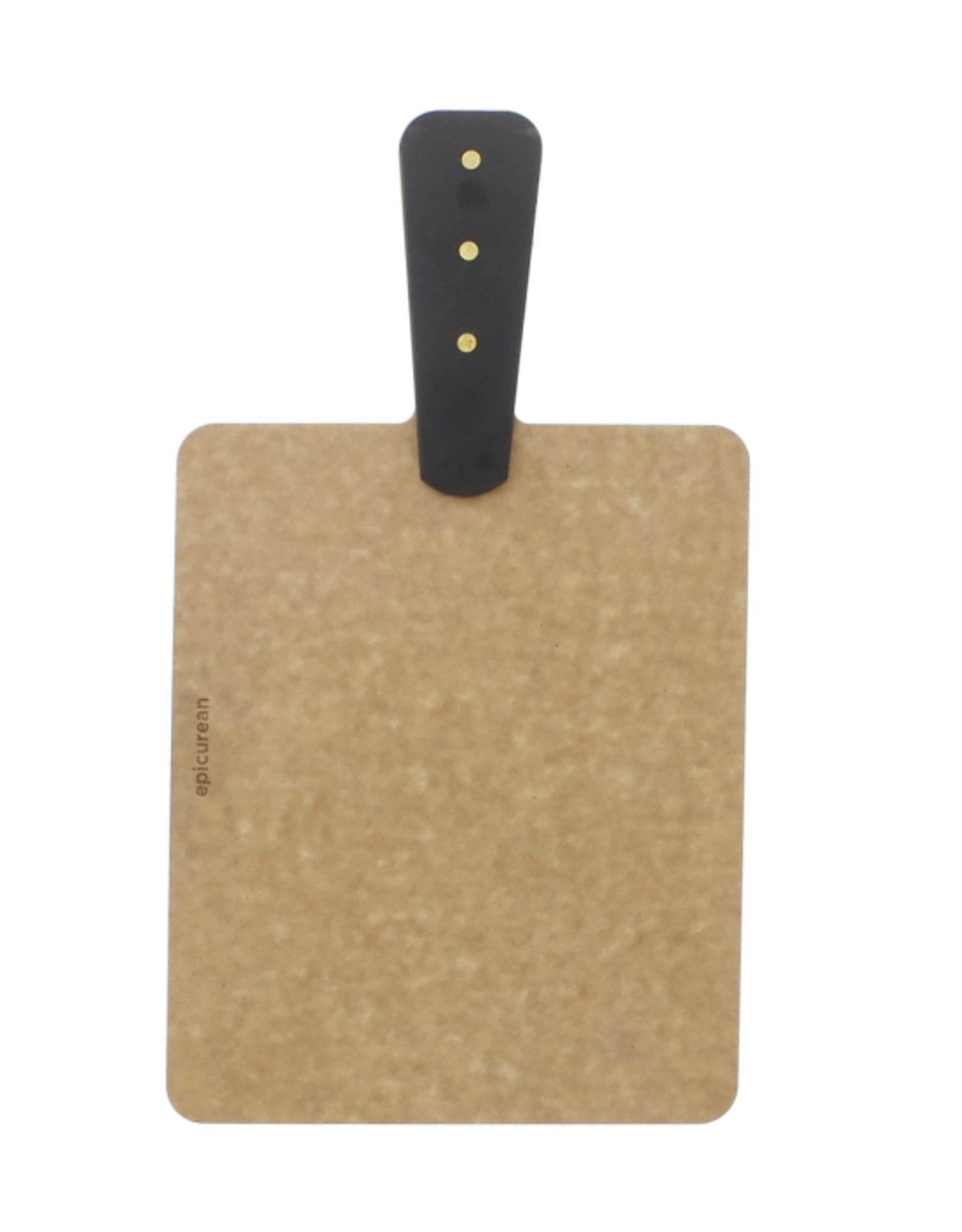 Epicurean Handy Boards, Riveted Handle, Natural/Slate 9x7.5