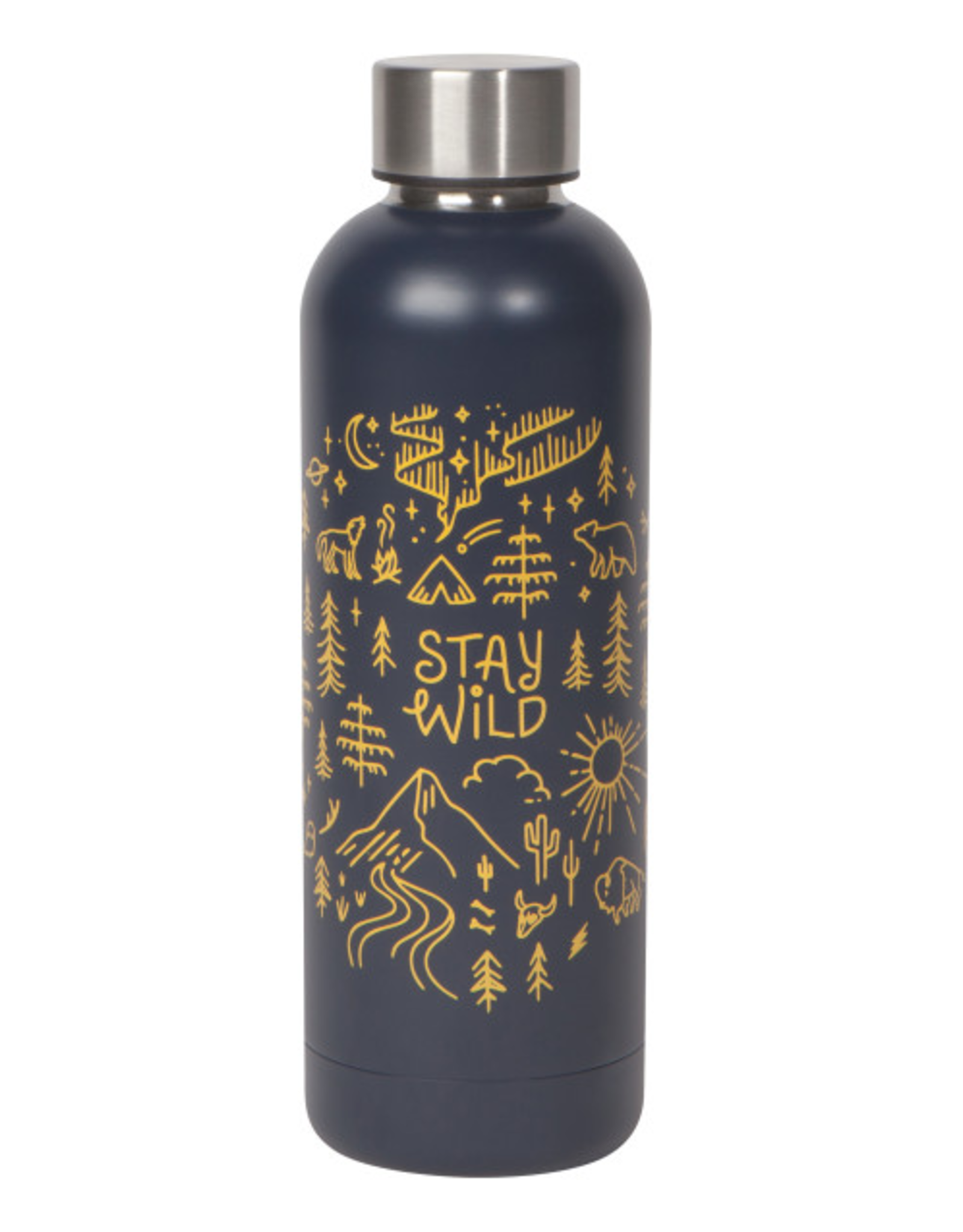 Now Designs Danica Water Bottle, 17oz, Stay Wild