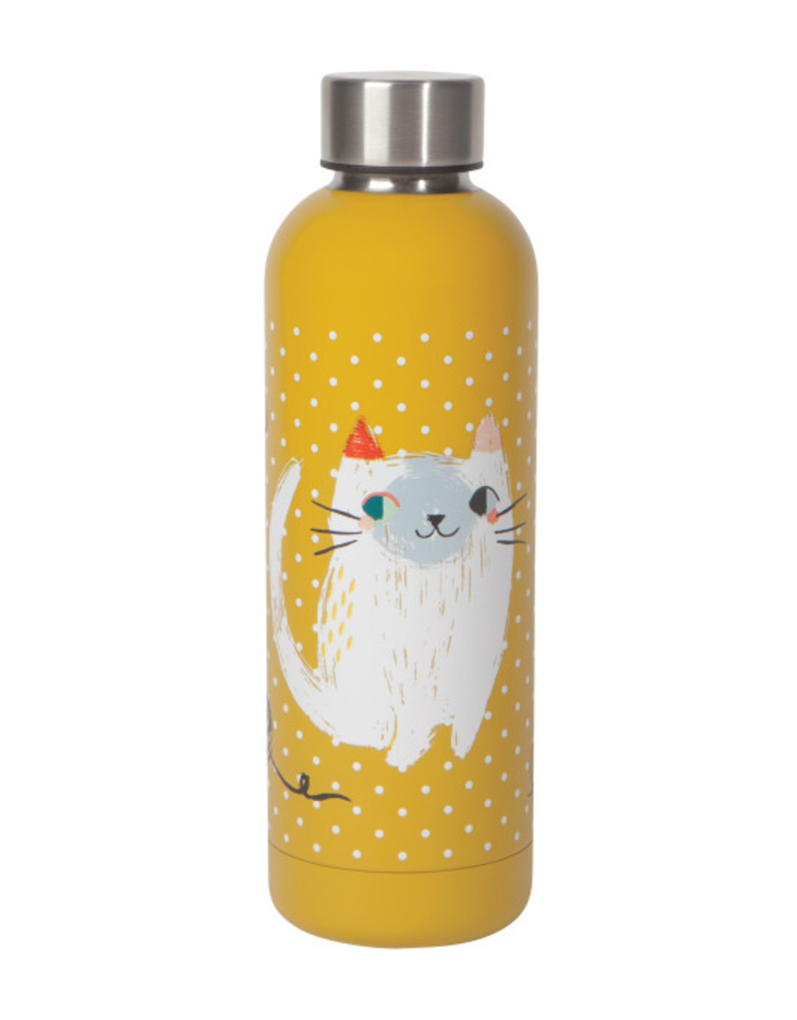 Now Designs Danica Water Bottle, 17oz, Meow Meow