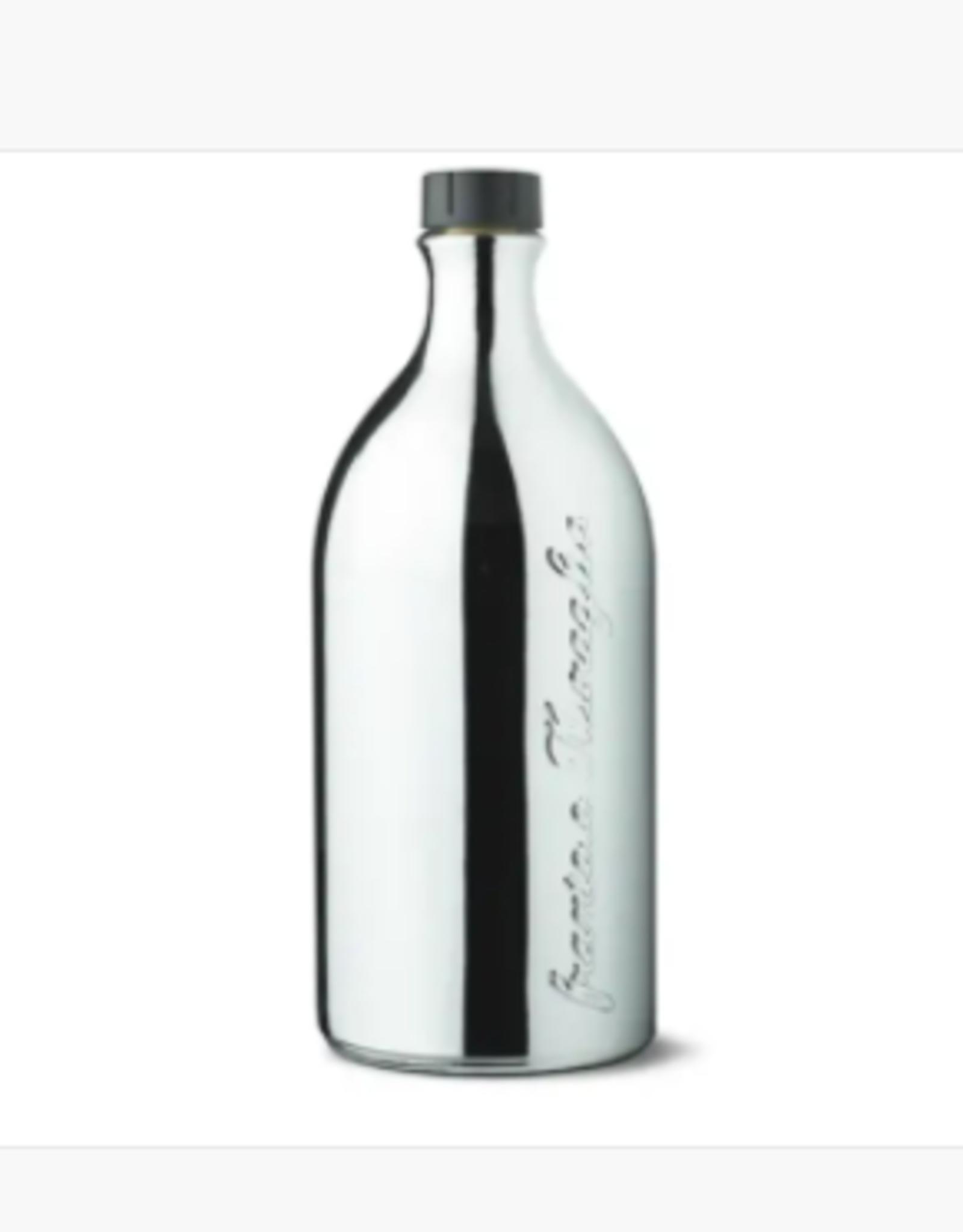Zia Pia Imports + Italian Kitchen EVOO Glass Bottle - Silver