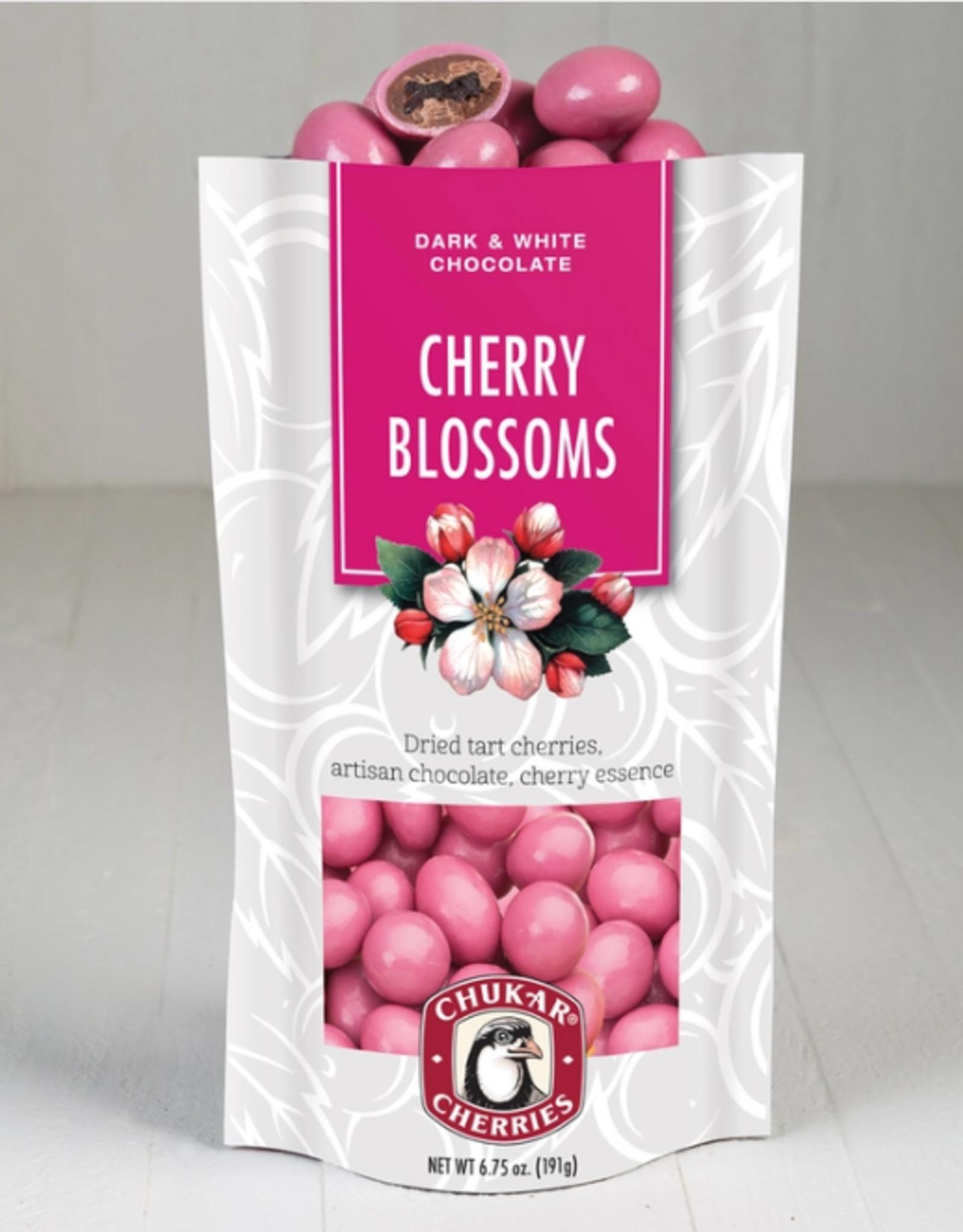 Chukar Cherry Company Cherry Blossom Bag Dk & Wht Choc