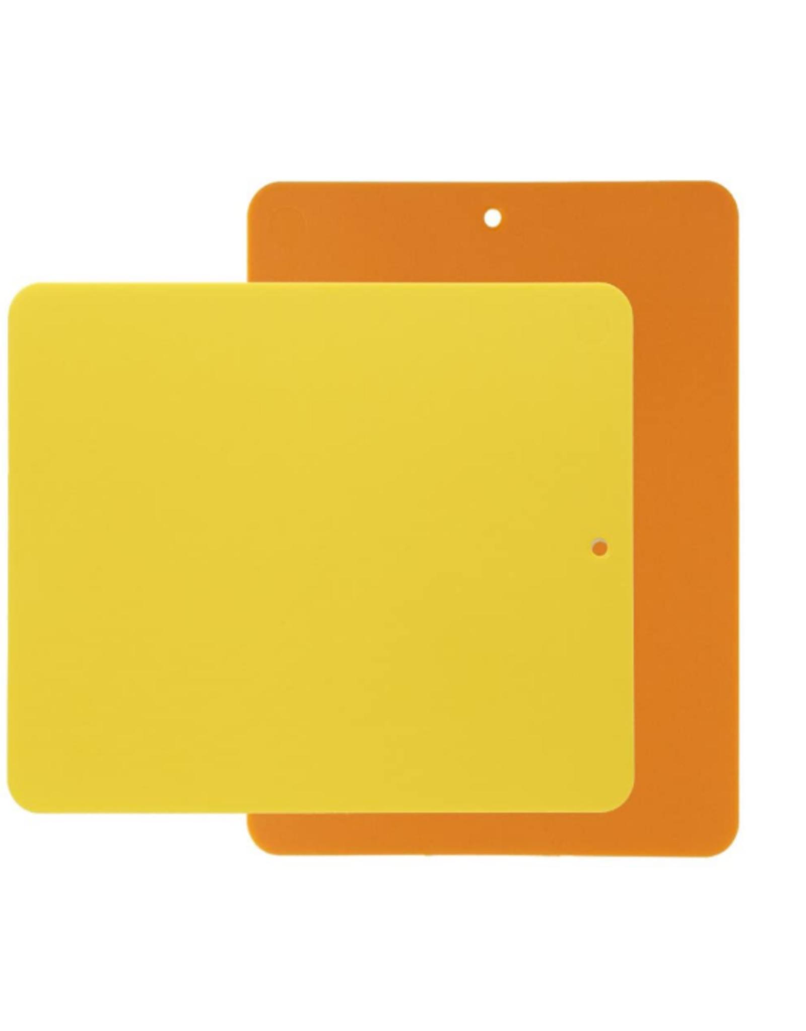 Linden Bendy Cutting Board 2-pk yellow/orange