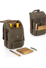 Picnic Time 2 Wine & Cheese Bag, Green